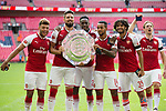 L-R Alex Oxlade-Chamberlain of Arsenal, Olivier Giroud of Arsenal, Danny Welbeck of Arsenal, Theo Walcott of Arsenal, Mohamed Elneny of Arsenal and Nacho Monreal of Arsenal after the The FA Community Shield match at Wembley Stadium, London. Picture date 6th August 2017. Picture credit should read: Charlie Forgham-Bailey/Sportimage