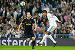 Real Madrid's Raphael Varane (r) and Tottenham Hotspur FC's Harry Kane during Champions League Group H match 3. October 17,2017. (ALTERPHOTOS/Acero)