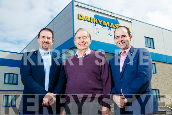 John, Ned and Edmond Harty family pictured at the Dairymaster factory in Causeway during the 50 year celebrations.