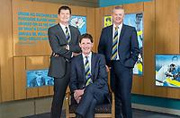 Picture by Allan McKenzie/SWpix.com - 09/02/18 - Cricket - Yorkshire County Cricket Club Corporate Headshots - Headingley Cricket Ground, Leeds, England - Martyn Moxon, Steve Denison & Mark Arthur.