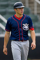 Travis D'Arnaud #5 of the Lakewood BlueClaws at Fieldcrest Cannon Stadium July 10, 2009 in Kannapolis, North Carolina. (Photo by Brian Westerholt / Four Seam Images)