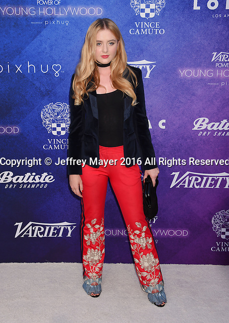 HOLLYWOOD, CA - AUGUST 16: Actress Kathryn Newton arrives at Variety's Power Of Young Hollywood at NeueHouse Hollywood on August 16, 2016 in Los Angeles, California.