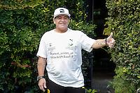 Diego Armando Maradona<br /> Roma 10-10-2016. Rai Viale Mazzini. Presentazione della 'Partita della Pace'.<br /> Rome 10th October 2016. Rai. Presentation of the 'Football match for Peace'.<br /> Foto Samantha Zucchi Insidefoto