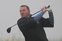 Barry Cashman (Belvoir Park) on the 1st tee during Round 1 - Matchplay of the North of Ireland Championship at Royal Portrush Golf Club, Portrush, Co. Antrim on Wednesday 11th July 2018.<br /> Picture:  Thos Caffrey / Golffile