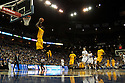 18 February 2012: Larry Anderson of the Long Beach State 49ers dunks the ball against the Creighton Bluejays during the first half at the CenturyLink Center in Omaha, Nebraska. Creighton defeated Long Beach State 81 to 79.