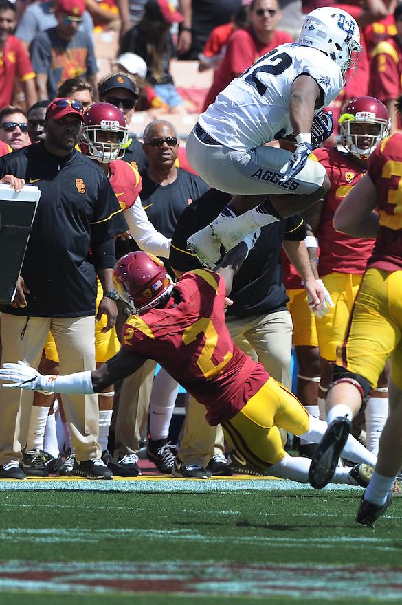 USC Trojans vs the Utah State Aggies Saturday, September 10, 2016 at the Los Angeles Memorial Coliseum.