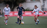 Seattle, WA - Saturday March 24, 2018: Andi Sullivan, Beverly Yanez, Meggie Dougherty Howard during a regular season National Women's Soccer League (NWSL) match between the Seattle Reign FC and the Washington Spirit at the UW Medicine Pitch at Memorial Stadium.