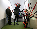 Clayton Donaldson of Sheffield Utd  high fives the mascots during the Championship match at Bramall Lane Stadium, Sheffield. Picture date 26th December 2017. Picture credit should read: Simon Bellis/Sportimage