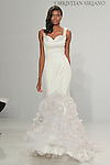 Model walks runway in a cascading ruffle mermaid gown, from the Christian Siriano for Kleinfeld bridal collection, at Kleinfeld on April 18, 2016 during New York Bridal Fashion Week Spring Summer 2017.