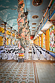 VIETNAM, Cao Dai Temple in the City of Tay Ninh,  Followers wearing white, in the prayer hall