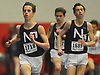 Dan O'Connor of Northport, left, races to victory in the 1,000 meter run during the Suffolk County boys winter track and field state qualifiers at Suffolk Community College Grant Campus in Brentwood on Monday, Feb. 12, 2018. He won with a time of 9:37.28.