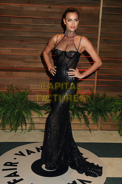 02 March 2014 - West Hollywood, California - Irina Shayk. 2014 Vanity Fair Oscar Party following the 86th Academy Awards held at Sunset Plaza. <br /> CAP/ADM/BP<br /> &copy;Byron Purvis/AdMedia/Capital Pictures