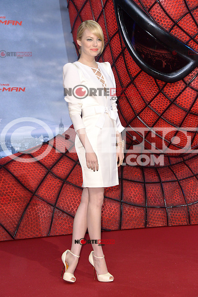 Emma Stone (wearing an Andrew Gn dress, Louboutin shoes, Repossi jewelry) attending the Germany premiere of the movie The Amazing Spider-Man at CineStar Sony Center in Berlin. Berlin, 20.06.2012...Credit: Timm/face to face /MediaPunch Inc. ***Online Only for USA Weekly Print Magazines*** NORTEPOTO.COM<br /> **SOLO*VENTA*EN*MEXICO**<br /> **CREDITO*OBLIGATORIO** <br /> *No*Venta*A*Terceros*