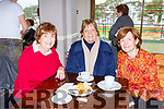 Brid Fitzpatrick, Noreen Collins and Bridie Brosnan the Children of Chernobyl coffee morning in Killarney Golf club on Friday