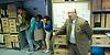 Bank On It <br /> by Theatre-Rites<br /> site-specific production at the<br /> Rose Lipman Building <br /> De Beauvoir Road<br /> London, Great Britain <br /> press photocall<br /> 26th June 2013 <br /> <br /> Danny Schlesinger as Bank manager<br /> <br /> Carol Walton <br /> <br /> Simon Palmer<br /> <br /> Moshen Nouri <br /> <br /> Marsha Gem Henry <br /> <br /> Matthew Blake<br /> <br /> <br /> Photograph by Elliott Franks