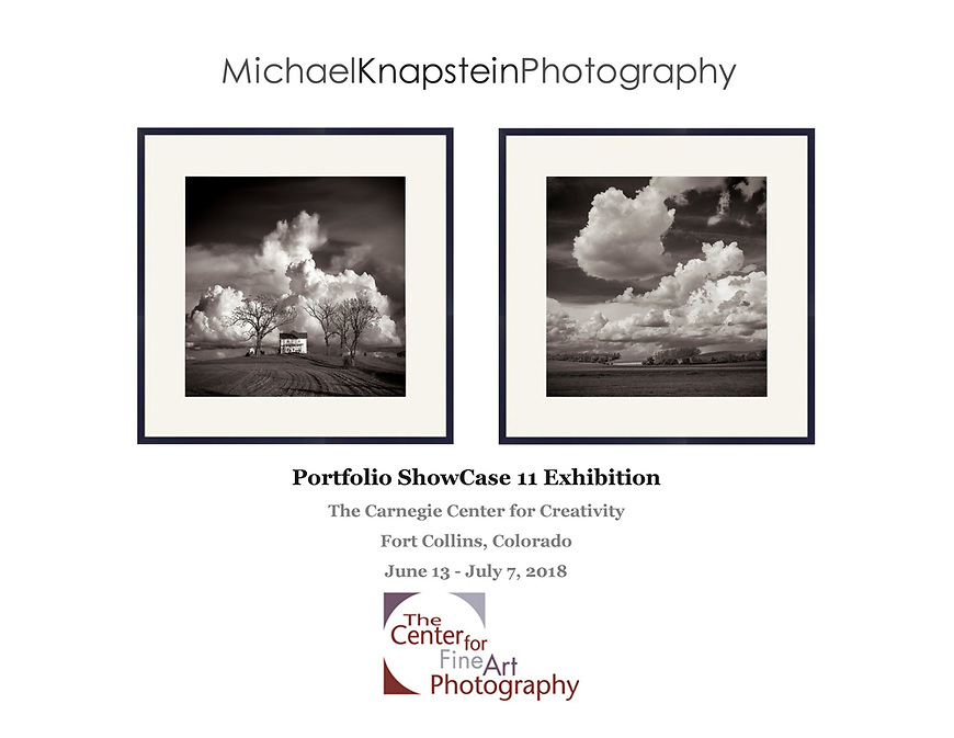 Photographs by Michael Knapstein were selected for the Center for Fine Art Photography's Portfolio ShowCase 11 exhibit at the Carnegie Center for Creativity in Fort Collins, Colorado.