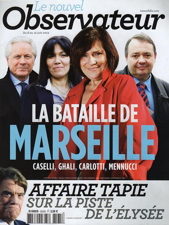 Nouvel Observateur - Spécial Marseille - Portrait Eugène Caselli par François Moura - Marseille 2013