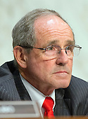 """United States Senator Jim Risch (Republican of Idaho) a member of the U.S. Senate Foreign Relations Committee, listens to testimony during the hearing on """"Authorization of Use of Force in Syria"""" on Capitol Hill in Washington, D.C. on Tuesday, September 3, 2013.<br /> Credit: Ron Sachs / CNP"""