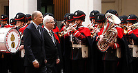 Il Presidente del Consiglio Enrico Letta, a sinistra, accoglie il Presidente croato Ivo Josipovic a Palazzo Chigi, Roma, 3 dicembre 2013.<br /> Italian Premier Enrico Letta, left, and Croatian President Ivo Josipovic review the honor guard at Chigi Palace, Rome, 3 December 2013.<br /> UPDATE IMAGES PRESS/Isabella Bonotto