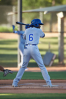 AZL Royals Diego Hernandez (6) at bat during an Arizona League game against the AZL White Sox at Camelback Ranch on June 19, 2019 in Glendale, Arizona. AZL White Sox defeated AZL Royals 4-2. (Zachary Lucy/Four Seam Images)