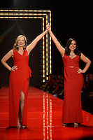 www.acepixs.com<br /> February 9, 2017  New York City<br /> <br /> Nicole Hardy and Odilia Flores on the runway at the American Heart Association's Go Red For Women Red Dress Collection 2017 presented by Macy's at Fashion Week at Hammerstein Ballroom on February 9, 2017 in New York City.<br /> <br /> Credit: Kristin Callahan/ACE Pictures<br /> <br /> <br /> Tel: 646 769 0430<br /> Email: info@acepixs.com