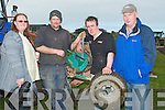 REPAIRS: Carrying out the final repairs on their tractor on Sunday at the Causeway Ploughing Championship on Paul Thornston Land, Castleshannon, Causeway. L-r: Martina Flynn (Causeway), Derek O'Driscoll (Ballyheigue), Cormac O'Connor (Causeway) and Brendan Gurnett (Ardfert). ................ . ............................... ..........