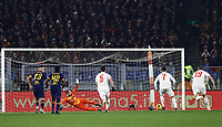 12th January 2020; Stadio Olympico, Rome, Italy; Italian Serie A Football, Roma versus Juventus; Cristiano Ronaldo of Juventus shoots and scores from the penalty spot in the 10th minute for 0-2