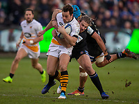 Wasps' Rob Miller in action during todays match<br /> <br /> Photographer Bob Bradford/CameraSport<br /> <br /> European Rugby Heineken Champions Cup Pool 1 - Bath Rugby v Wasps - Saturday 12th January 2019 - The Recreation Ground - Bath<br /> <br /> World Copyright &copy; 2019 CameraSport. All rights reserved. 43 Linden Ave. Countesthorpe. Leicester. England. LE8 5PG - Tel: +44 (0) 116 277 4147 - admin@camerasport.com - www.camerasport.com