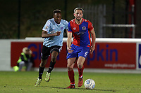 Nicke Kabamba of Aldershot Town and Luke Pennell of Dagenham  during Dagenham & Redbridge vs Aldershot Town, Vanarama National League Football at the Chigwell Construction Stadium on 10th February 2018
