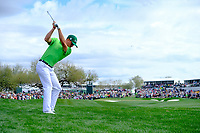 Justin Thomas (USA) on the 9th fairway during the 3rd round of the Waste Management Phoenix Open, TPC Scottsdale, Scottsdale, Arisona, USA. 02/02/2019.<br /> Picture Fran Caffrey / Golffile.ie<br /> <br /> All photo usage must carry mandatory copyright credit (&copy; Golffile | Fran Caffrey)