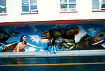 Alaska: Mural in Juneau.  Photo akjune104..Photo copyright Lee Foster, 510/549-2202,  lee@fostertravel.com, www.fostertravel.com
