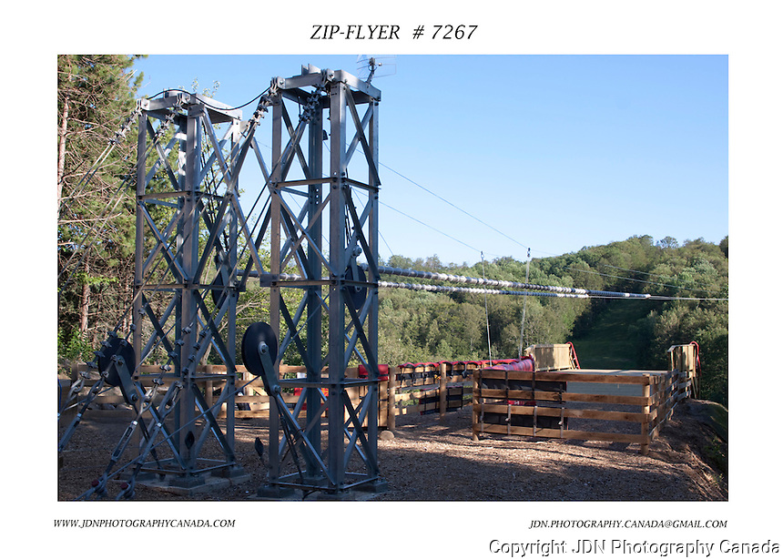 Zip-Flyer structure at Horseshoe Resort