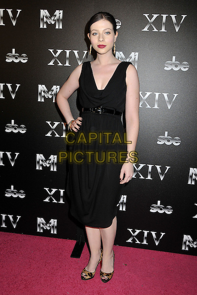 MICHELLE TRACHTENBERG.XIV Restaurant Grand Opening Party - Arrivals at XIV on Sunset Blvd., West Hollywood, California, USA..October 14th, 2008.full length black dress hand on hip belt Trachenberg.CAP/ADM/BP.©Byron Purvis/AdMedia/Capital Pictures.