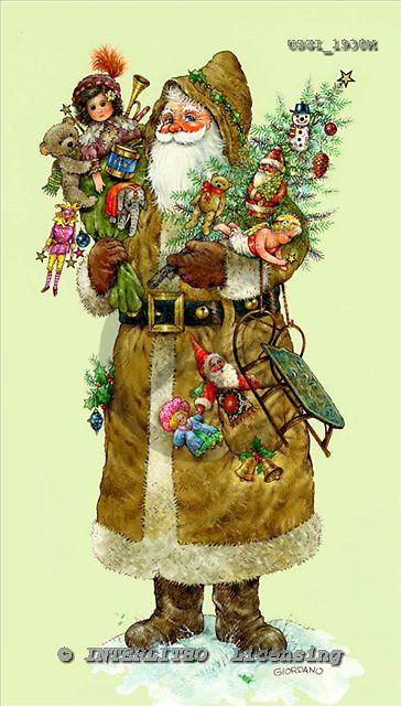 GIORDANO, CHRISTMAS SANTA, SNOWMAN, WEIHNACHTSMÄNNER, SCHNEEMÄNNER, PAPÁ NOEL, MUÑECOS DE NIEVE, nostalgic, paintings+++++,USGI1930M,#X# nostalgic,vintage