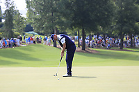 Thomas Bjorn (DEN) putts on the 18th green during Friday's Round 2 of the 2017 PGA Championship held at Quail Hollow Golf Club, Charlotte, North Carolina, USA. 11th August 2017.<br /> Picture: Eoin Clarke | Golffile<br /> <br /> <br /> All photos usage must carry mandatory copyright credit (&copy; Golffile | Eoin Clarke)
