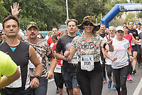 Thousands of people participate the NATO Run across the streets in Budapest, Hungary on Sept. 23, 2018. ATTILA VOLGYI