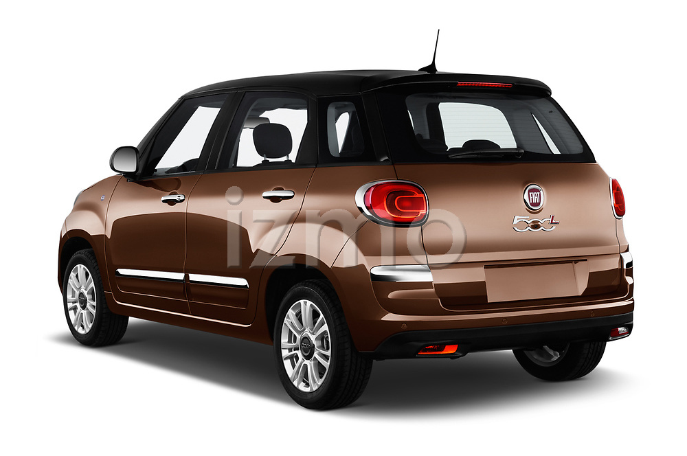 Car pictures of rear three quarter view of a 2018 Fiat 500L Lounge 5 Door Mini Van angular rear
