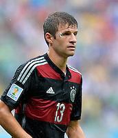 FUSSBALL WM 2014  VORRUNDE    GRUPPE G    in Recife USA - Deutschland                  26.06.2014 Thomas Müller (Deutschland) mit blauen Auge und Pflaster