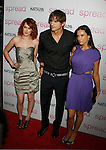 "HOLLYWOOD, CA. - August 03: Rumer Willis, Ashton Kutcher and Demi Moore arrive at the Los Angeles premiere of ""Spread"" at the ArcLight Hollywood on August 3, 2009 in Hollywood, California."