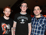 Steven Malley, Craig McCormack and Joe Vaughey pictured at James Murray's 21st birthday in McHugh's. Photo: Colin Bell/pressphotos.ie