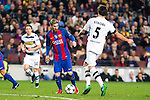 VfL Borussia Monchengladbach's Nico Shulz, Tobias Strobl, FC Barcelona's Leo Messi  during Champions League match between Futbol Club Barcelona and VfL Borussia Mönchengladbach  at Camp Nou Stadium in Barcelona , Spain. December 06, 2016. (ALTERPHOTOS/Rodrigo Jimenez)