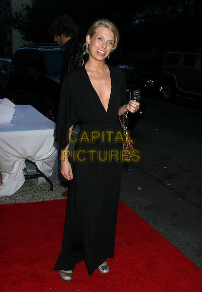 "THEODORA RICHARDS.Advance screening of ""The Omen"" at the Angel Orensanz Foundation, New York City, New York, USA..May 31st, 2006.Ref: IW.full length black dress brown leather bag purse.www.capitalpictures.com.sales@capitalpictures.com.©Capital Pictures"