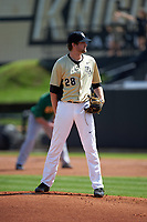 UCF Knights starting pitcher Nick McCoy (28) looks in for the sign during a game against the Siena Saints on February 21, 2016 at Jay Bergman Field in Orlando, Florida.  UCF defeated Siena 11-2.  (Mike Janes/Four Seam Images)