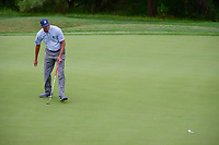 Matt Kuchar (USA) follows his birdie putt in on 17 during round 1 of the Valero Texas Open, AT&amp;T Oaks Course, TPC San Antonio, San Antonio, Texas, USA. 4/20/2017.<br /> Picture: Golffile | Ken Murray<br /> <br /> <br /> All photo usage must carry mandatory copyright credit (&copy; Golffile | Ken Murray)