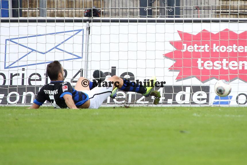Edmond Kapllani (FSV) erzielt das 3:0 - FSV Frankfurt vs. FC Erzgebirge Aue, Frankfurter Volksbank Stadion