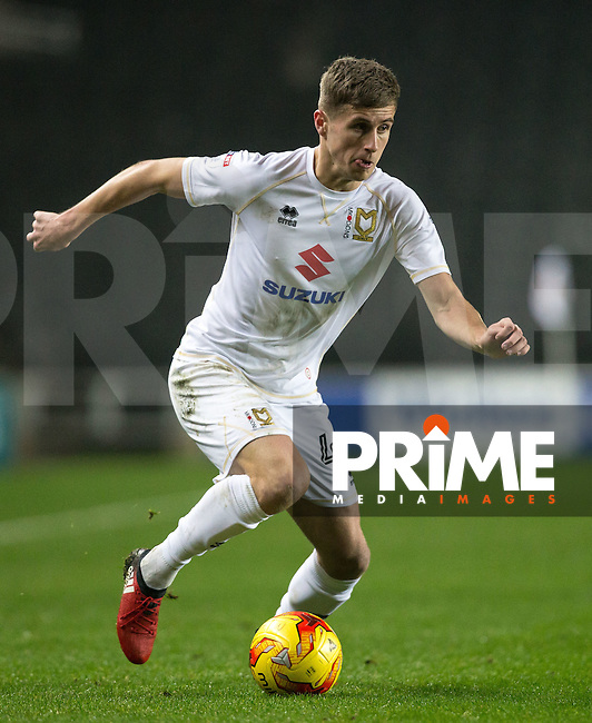 Ryan Colclough of Milton Keynes Dons during the Sky Bet League 1 match between MK Dons and Chesterfield at stadium:mk, Milton Keynes, England on 22 November 2016. Photo by Andy Rowland.