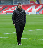 Lincoln City's Michael Bostwick on arrival at the ground<br /> <br /> Photographer Andrew Vaughan/CameraSport<br /> <br /> The EFL Sky Bet League One - Accrington Stanley v Lincoln City - Saturday 15th February 2020 - Crown Ground - Accrington<br /> <br /> World Copyright © 2020 CameraSport. All rights reserved. 43 Linden Ave. Countesthorpe. Leicester. England. LE8 5PG - Tel: +44 (0) 116 277 4147 - admin@camerasport.com - www.camerasport.com