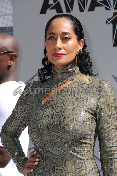 26 June 2016 - Los Angeles. Tracee Ellis Ross. Arrivals for the 2016 BET Awards held at the Microsoft Theater. Photo Credit: Birdie Thompson/AdMedia