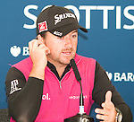 Graeme McDowell is full of praise for Castle Stuart and playing links golf the week before The Open Championships at his press conference ahead of the Barclays Scottish Open, played over the links at Castle Stuart, Inverness, Scotland from 7th to 10th July 2011:  Picture Stuart Adams /www.golffile.ie  6th July 2011