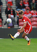 30th September 2017, Riverside Stadium, Middlesbrough, England; EFL Championship football, Middlesbrough versus Brentford; Ryan Shotton clears the ball in the 2-2 draw